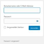 Das Login-Passwort vergessen - Was tun?